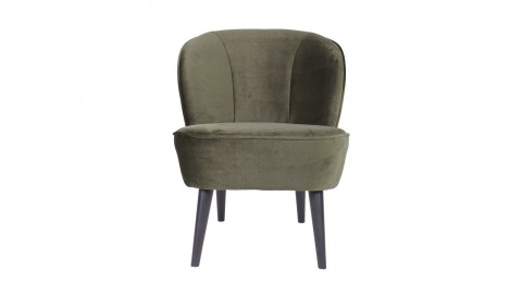 Fauteuil velours vert chaud – Collection Sara