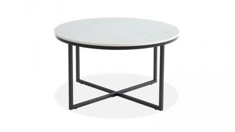 Table basse ronde marbre blanc & métal noir - Floyd - ELLE DECORATION