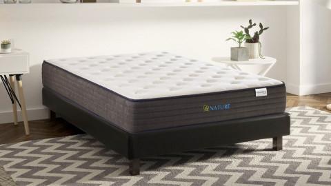 Matelas mémoire de forme 90X190 cm Nature - Mousse HR - Coutil avec coton bio et lin - 20 zones de confort - Epaisseur 22 cm