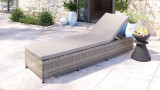 Bain de soleil - Transat en résine tressée - Dimensions 65x210x32 cm - Collection Ina