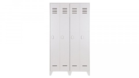 Vestiaire 2 portes droites en pin blanc - Collection Stijn - Woood