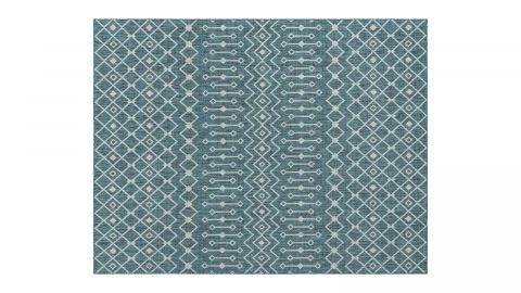 Tapis d'extérieur scandinave bleu 200x200cm carré - Collection Ethan
