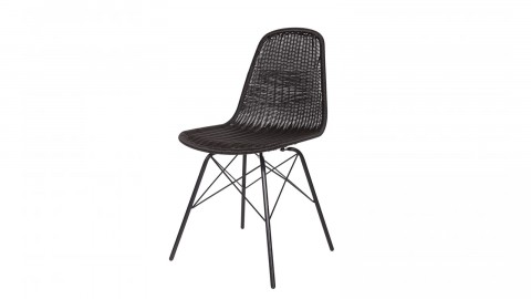Lot de 2 chaises couleur noir – Collection Spun
