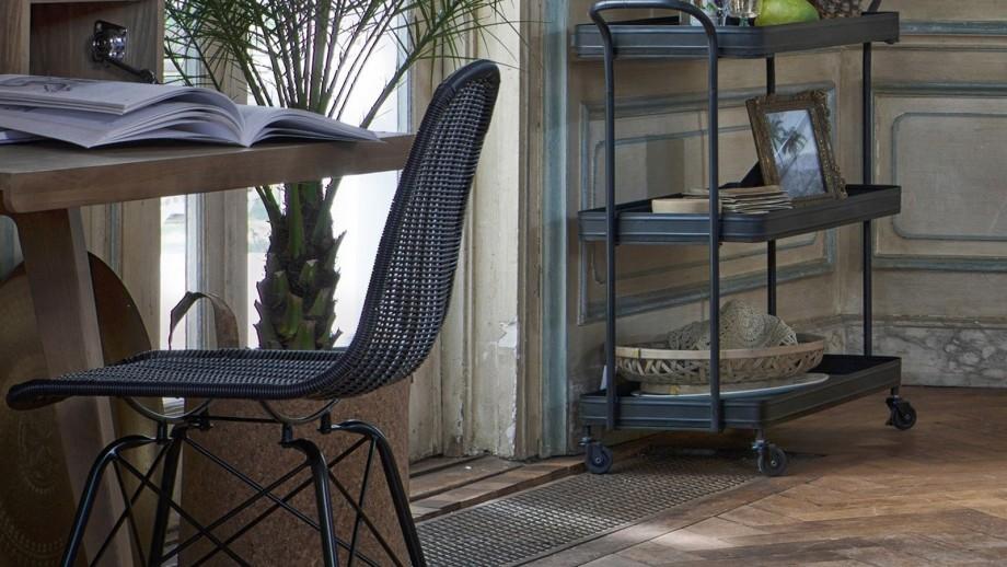 Lot de 2 chaises couleur noir – Collection Spun