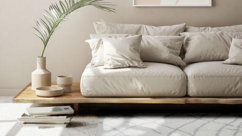 Tapis de couloir moderne shaggy blanc 80x140cm - Collection Liam