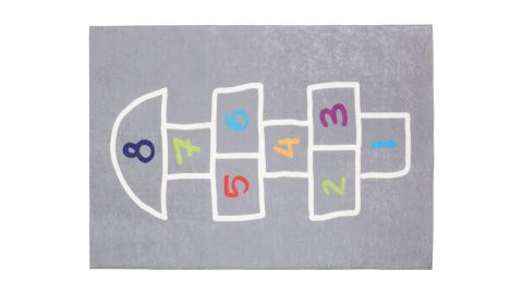 Tapis de couloir numérique gris 80 x 150 cm - collection Vista
