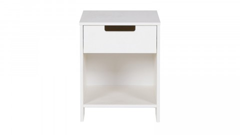 Table de nuit en pin blanc brossé - Collection Jade - Woood