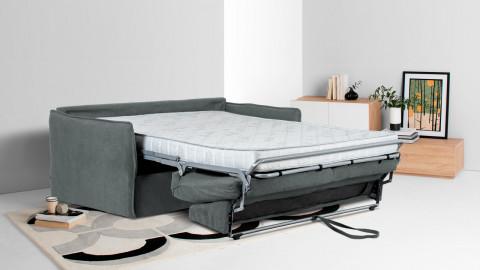 Canapé convertible 3 places en tissu gris anthracite - Couchage 140 x 190 - Collection Boheme