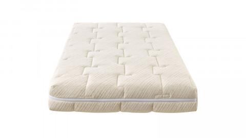 Matelas bébé 60X120 cm Nature - Tissu avec coton bio et lin - déhoussable - 20 zones de confort - Epaisseur 12 cm