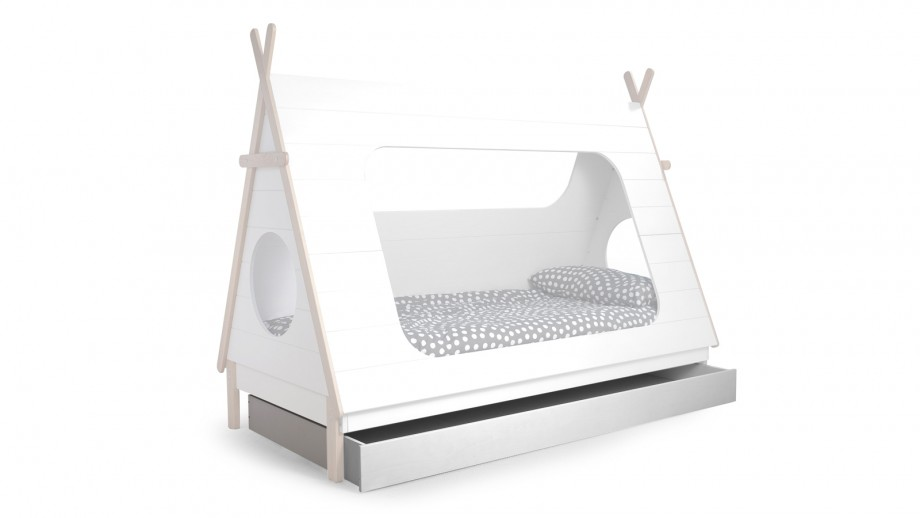 Tiroir de lit blanc – Collection Tipi