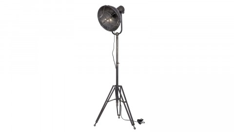 Lampe sur pied en métal gris anthracite - Collection Spotlight - BePureHome