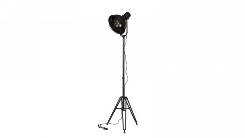 Lampe en métal noir sur pied - Collection Spotlight - BePureHome