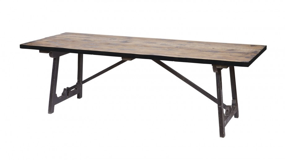 Table à manger 220x90 couleur noir – Collection Craft