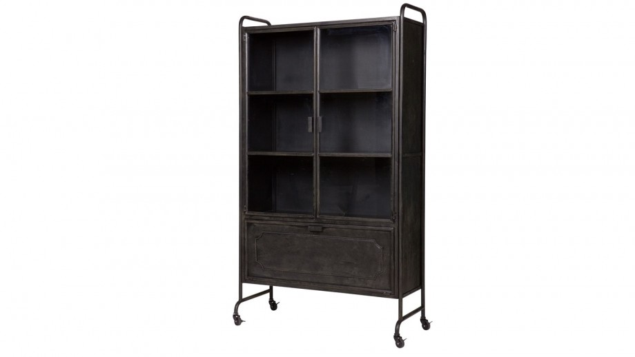 Vitrine en métal noir – Collection Steel Storage
