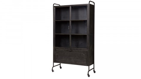 Vitrine en métal noir – Collection Steel Storage