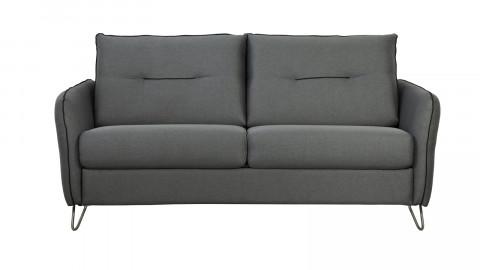 Canapé convertible 3 places en tissu gris - Ouverture express - Couchage quotidien - Matelas HD 140 x 190 - Collection Monza