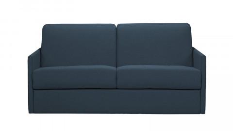 Canapé convertible 3 places en tissu Bleu - Ouverture express - Couchage quotidien - Matelas HD 140 x 190 - Collection Sienne