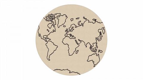 Tapis rond numérique beige 80 x 80 cm - collection Vista