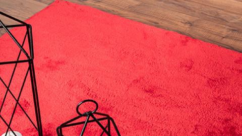 Tapis de couloir rouge 60 x 110 cm - collection Chino