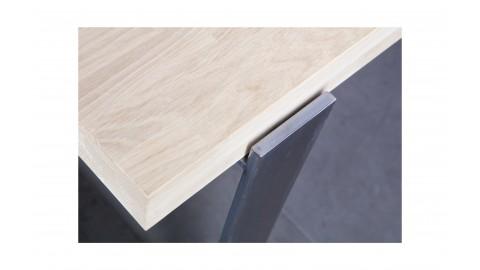 Table 180x90cm en chêne massif piétement métal – Collection Jamie