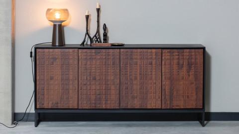 Buffet 4 portes en bois de sésame et métal - Collection Nuts - BePureHome