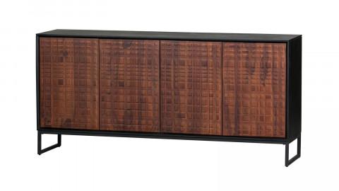 Buffet 4 portes en bois de sésame et métal - Nuts - BePureHome