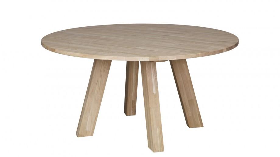 Table à manger diam.150cm en chêne massif – Collection Rhonda