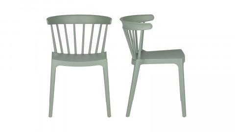Lot de 2 chaises design en plastique vert - Bliss - Woood