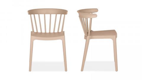 Lot de 2 chaises en plastique beige - Collection Bliss - Woood