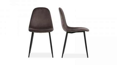Lot de 2 chaises en velours gris - Collection Marije - Woood