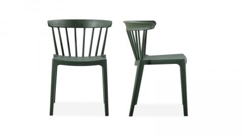 Lot de 2 chaises design en plastique vert - Collection Bliss - Woood