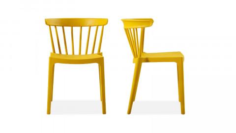 Lot de 2 chaises design en plastique ocre - Bliss - Woood