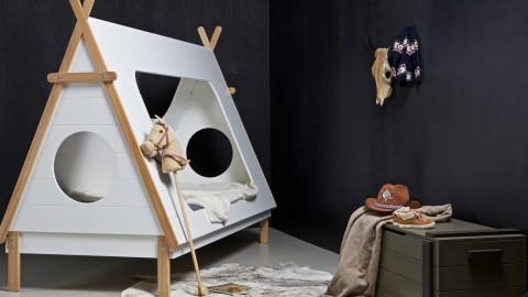 Lit 90x200cm avec sommier – Collection Tipi