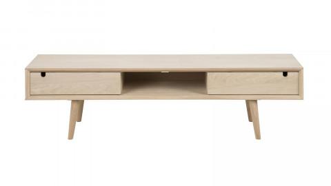 Meuble TV en chêne clair 2 tiroirs 1 niche de rangement – Collection Century