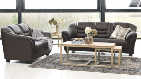 Table basse gigogne en chêne clair 120x60x50 – Collection Cornus