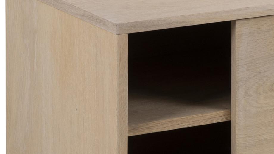 Meuble TV 2 portes 2 niches en chêne clair – Collection Marte
