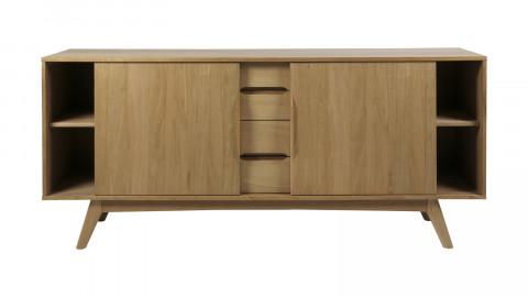 Buffet bas 2 portes 4 tiroirs en chêne vernis – Collection Marte