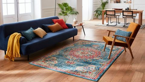 Tapis vintage Turquoise 120x170cm - Collection Rhys