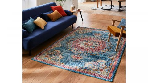 Tapis vintage Turquoise 160x230cm - Collection Rhys