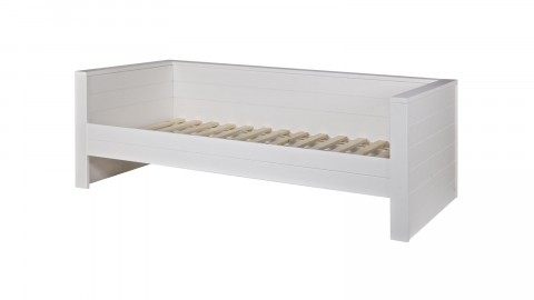 Lit canapé en pin brossé blanc – Collection Robin – Woood