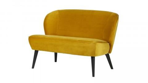 Petit canapé en Velours ocre – Collection Sara – Woood