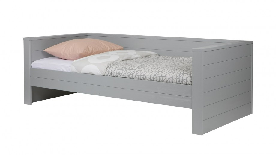Lit canapé en pin béton gris – Collection Dennis – Woood