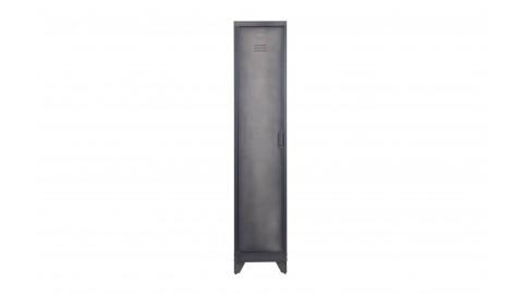 Armoire 1 porte en métal noir - Collection Cas