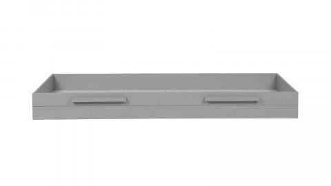 Tiroir de lit en pin massif brossé, couleur béton gris pour lit Dennis et Robin – Collection Dennis - Woood