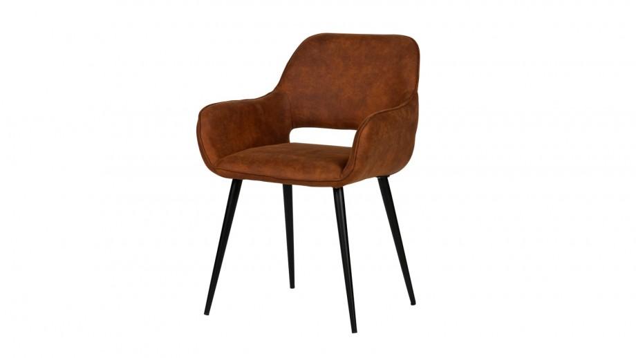 Lot de 2 chaises gris brun – Collection Jelle – Woood
