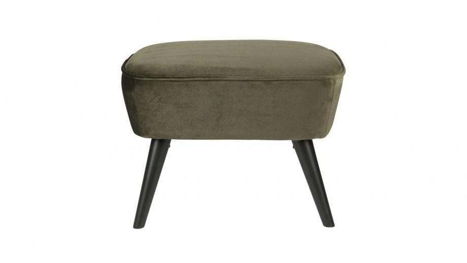 Tabouret sur jambes vert chaud – Collection Sara – Woood