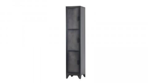 Armoire 3 portes en métal noir - Collection Cas