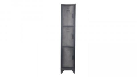 Armoire 3 portes en métal noir - Cas - Woood