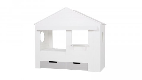 Lot de 2 tiroirs pour lit cabane en pin blanc – Collection Huisie – Woood