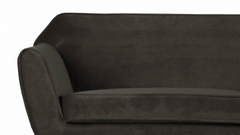 Sofa en Velours vert chaud – Collection Rocco – Woood
